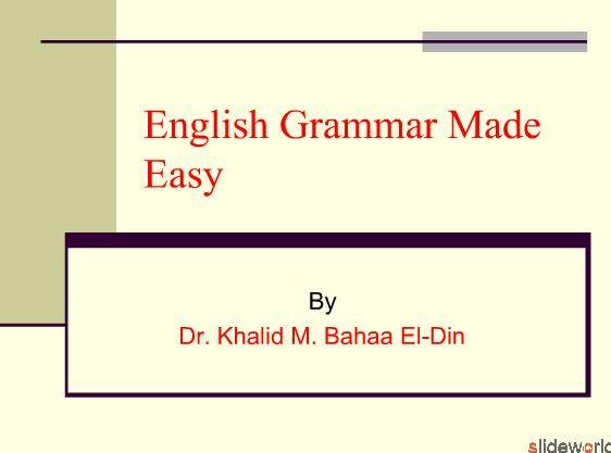English Grammar Made Easy