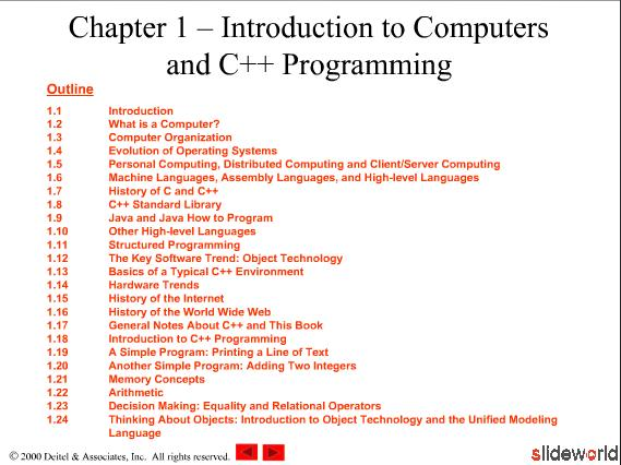 Chapter 1 – Introduction to  Computers  and C Programming