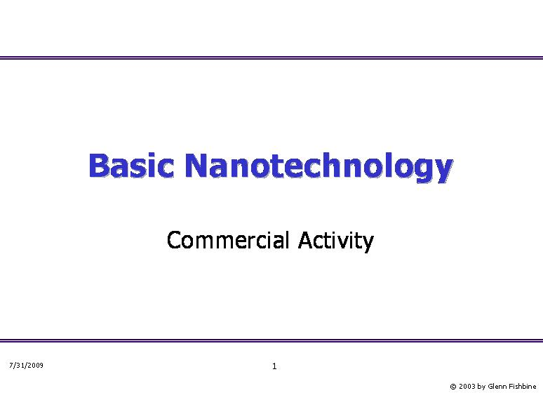 Basic Nanotechnology