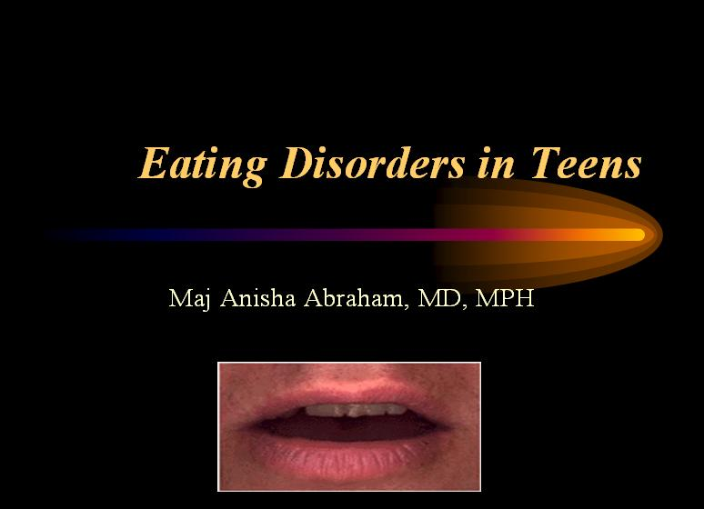 Eating Disorders in Teens