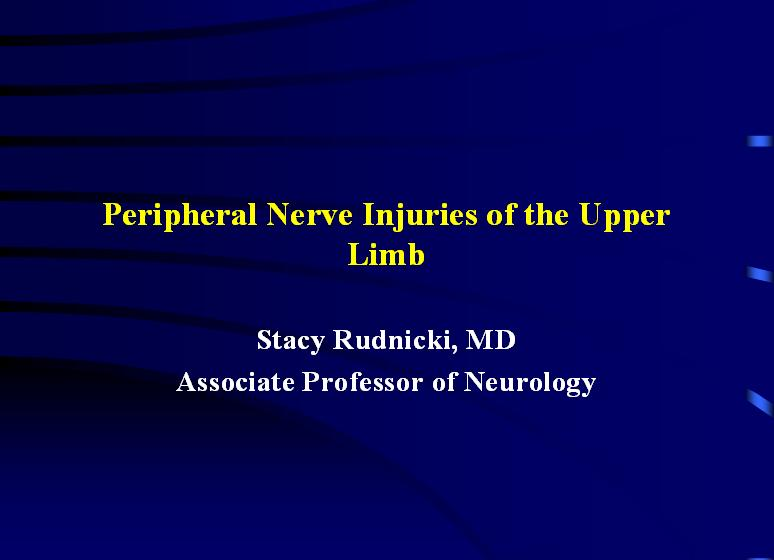 Nerve Injuries Upper Limb