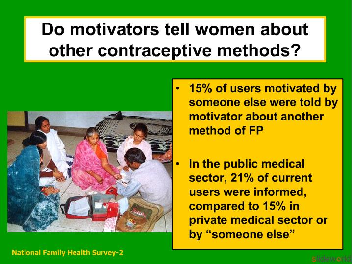 FAMILY PLANNING AND QUALITY OF CARE