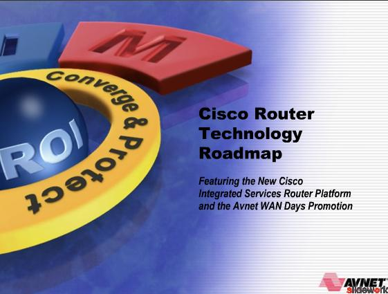 Cisco Router Technology Roadmap