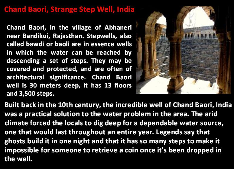 Strange Step Well India
