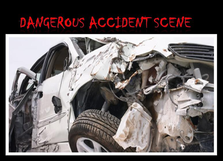 Dangerous Accident scene