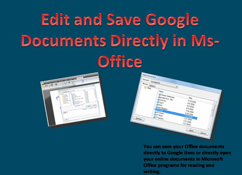 Edit Google Documents Directly in Microsoft Office  Save Your Changes Online