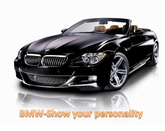 BMW-Show Your personality