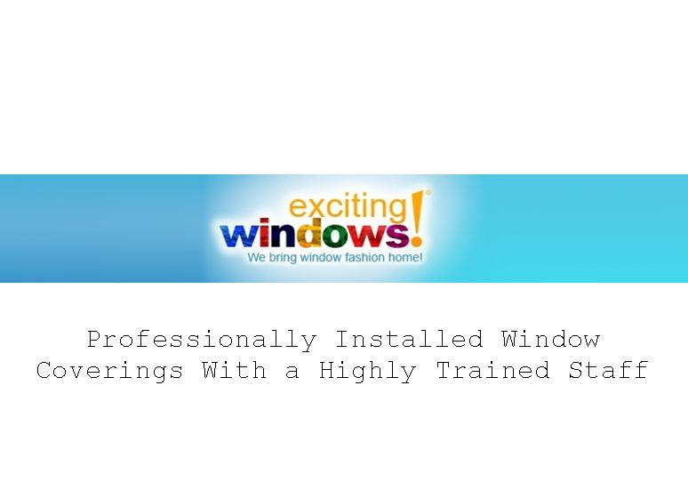 Exciting Windows - Window Treatments by Leading Professionals