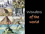 Top Wonders of the world