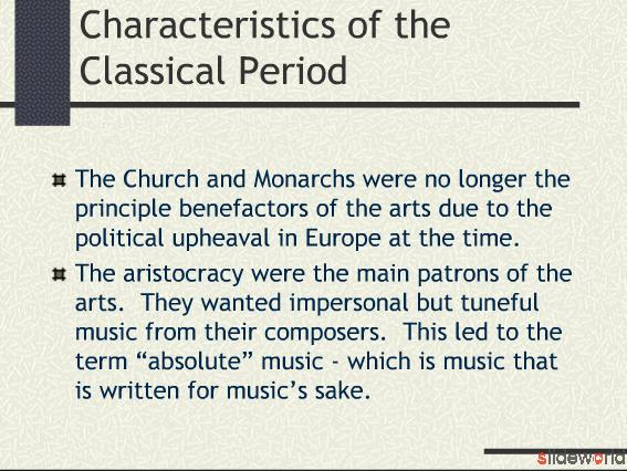 the classical era in music