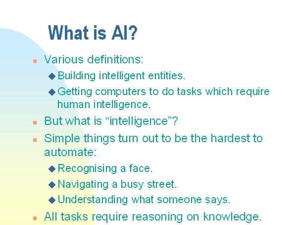 Artificial Intelligence An introduction 