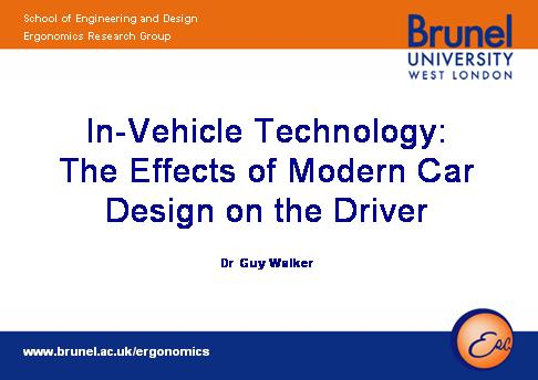 Effects of modern car designs on the driver