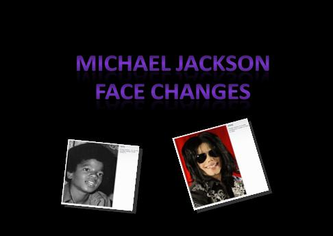 Michael jackson- face changes