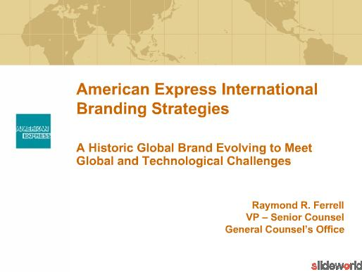 American Express International Branding Strategies