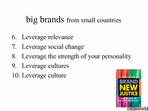big brands from small countries