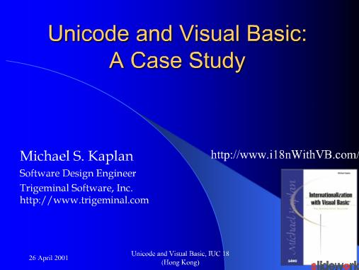 Unicode and visual basic A case study