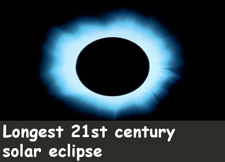 Longest 21st century  solar eclipse