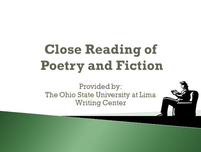 Close Reading Between Poetry and Fiction