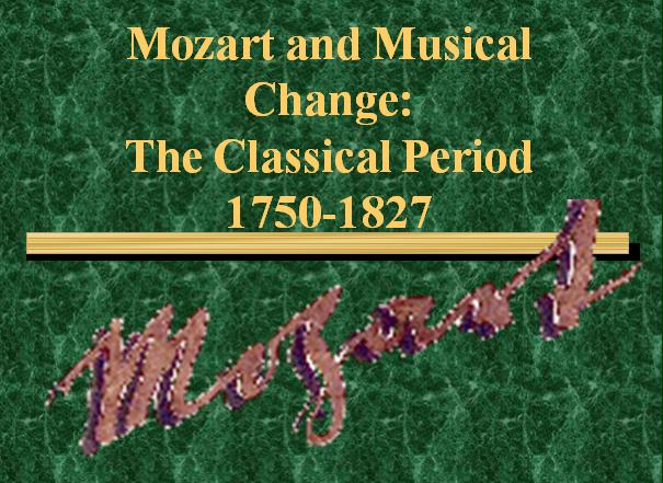 Mozart and Musical Change
