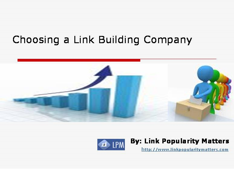 How to Choose a Link Building Service Provider