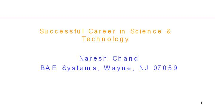 Career in science and technologies