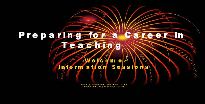 Preparing for a Career in Teaching