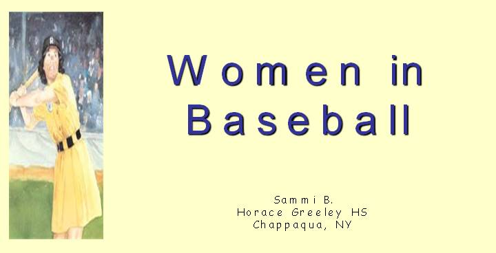 women and baseball