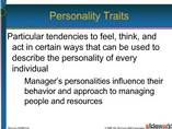 Presonality Development PPT, Personality Traits PPT , Personality Trait, Manger and Personality Trait
