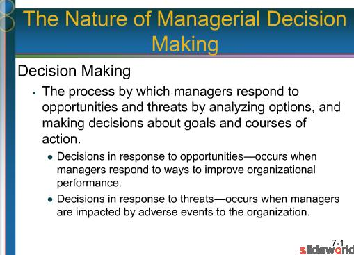 decision making, managerial decision making