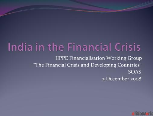 Financial crisis in India