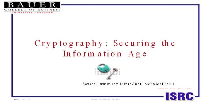 Cryptography Securing the Information Age
