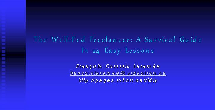 FreelancingGuide to be a successful freelancer