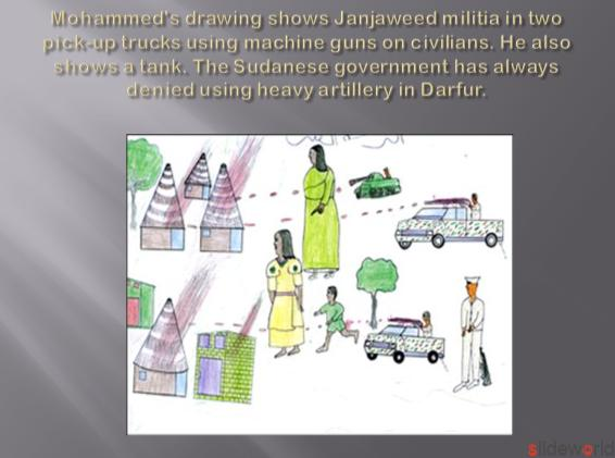 Child drawings of Darfur