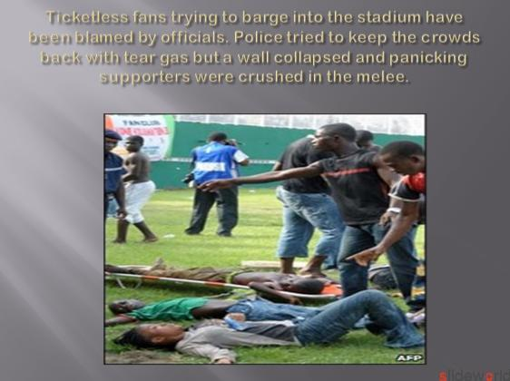 Ivory Coast stadium disaster