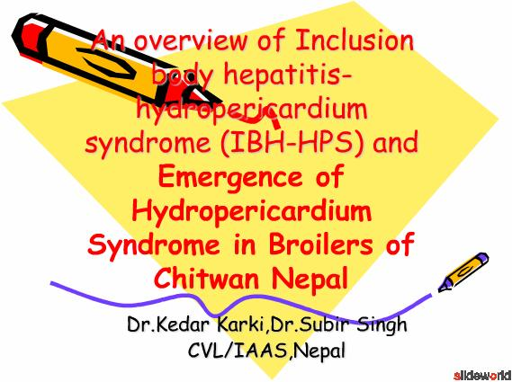 An overview of Inclusion body hepatitis-hydropericardium syndrome (IBH-HPS) and Emergence of Hydropericardium Syndrome in Broilers of Chitwan Nepal