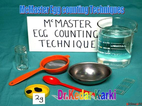 McMaster fecal Egg counting Technique