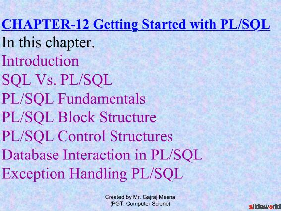 PL/SQL