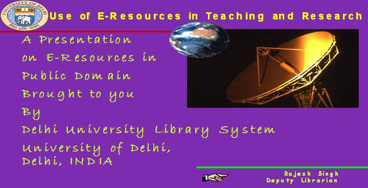 Use of E-Resources in Teaching and Research