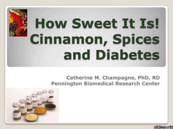Cinnamon, Spices and Diabetes
