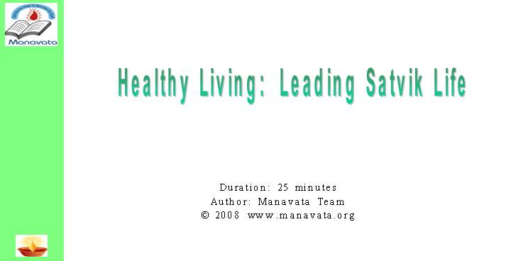 Healthy Living Leading A Pure Life