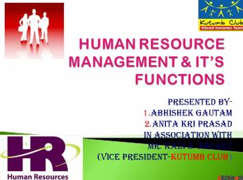 hr management functions