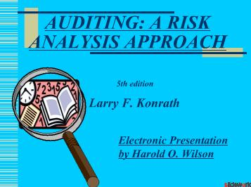 Auditing A RISK ANALYSIS APPROACH