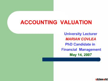 Accounting Valuation