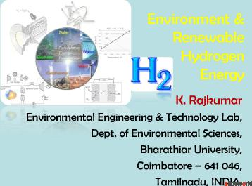 Environment  Renewable Hydrogen Energy