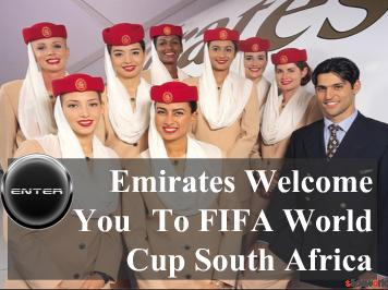 Book your FIFA World Cup package to South Africa with Emirates Airlines Tours now