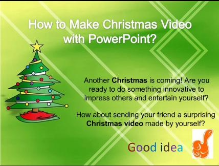 how to make Christmas video