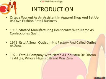 ZARA Supply Chain  powerpoint presentation