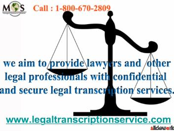 MOS Legal Transcription Service - US Legal Transcription Company