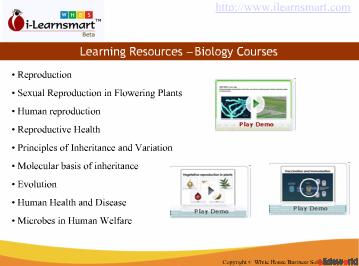 eLearning education, Learning Biology courses