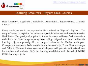 Online CBSE physics elearning Courses